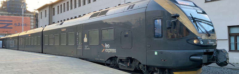 Leo Express train as used between Krakow and Prague