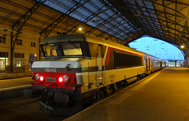 Train to Paris at Le Havre