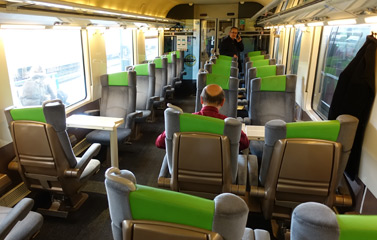 1st class on Le Havre-Paris train