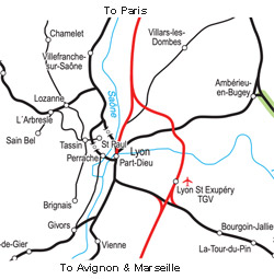 Map of stations in Lyon
