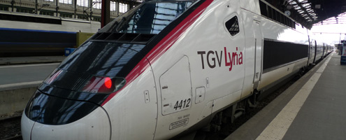 A TGV-Lyria at Paris Gare de Lyon