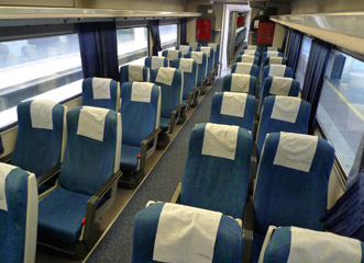 Turista seats on Madrid-Algeciras train