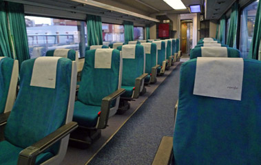 Turista Plus seats on Madrid-Algeciras train