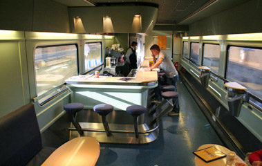 Cafe-bar on Madrid-Algeciras train