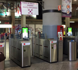 Ticket gates at Atocha-Cercanias