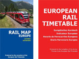 European rail map and timetable