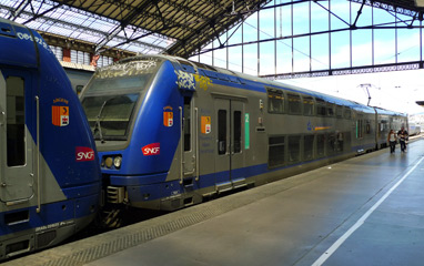 TER regional train from Marseille to Nice