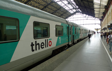 The Thello train from Marseille to Milan