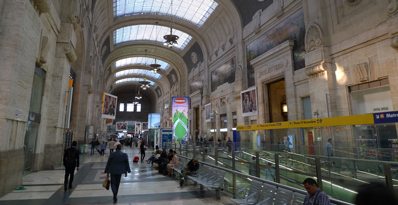 Milan Centrale trainshed