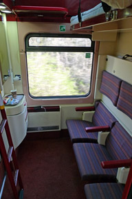 Zurich to Budapest sleeper compartment in seats mode
