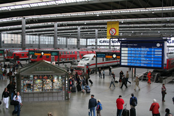 Trains from Munich
