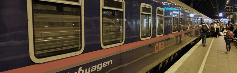 The Nightjet sleeper to Vienna at Cologne Hbf