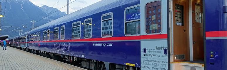 Comfortline sleeping-car at Innsbruck