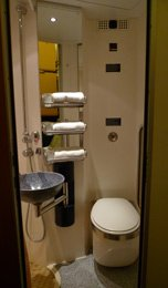 en suite shower & toilet in deluxe sleeper