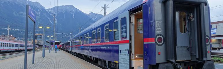 The Nightjet sleeper at Innsbruck