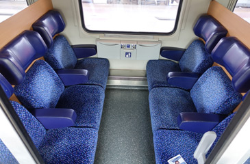 2nd class seats in 6-seat compartments