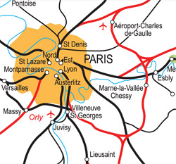 Map of stations in Paris
