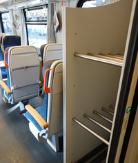 Luggage rack on Prague to Budapest train
