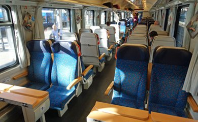2nd class open seating on Prague-Budapest EuroCity traiin