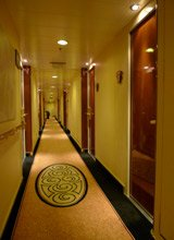 Queen mary 2:  6 deck corridor