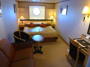 Queen Mary 2:  Standard Oceanview stateroom, number 6029