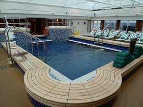 Queen Mary 2's Pavilion swimming pool