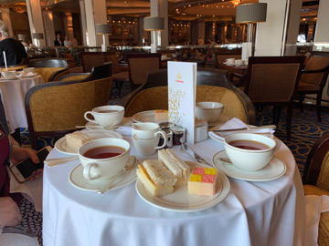 Afternoon tea on the QM2
