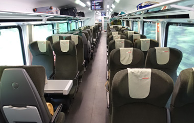 Railjet train standard class