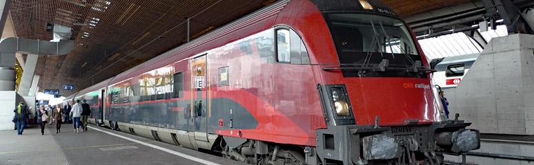 """A railjet train about to leave Zurich Hbf for Innsbruck, Salzburg & Vienna"""" width=""""774"""" height=""""240"""