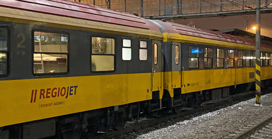 Regiojet overnight train