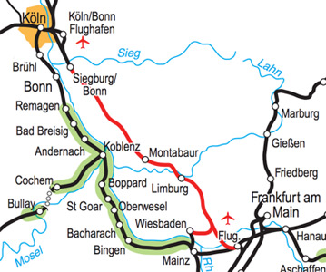 Rails down the Rhine - the scenic route by train