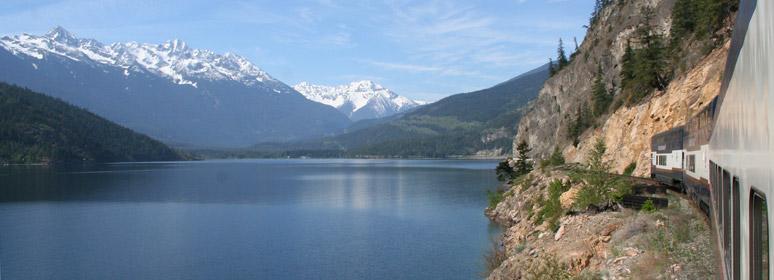 Rocky Mountaineer on Anderson Lake