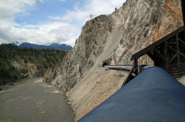 Rocky Mountaineer in Avalanche Alley