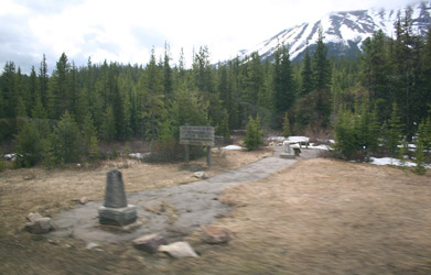 Continental Divide seen from the Rocky Mountaineer