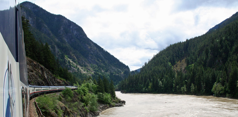 Rocky Mountaineer on the Fraser River