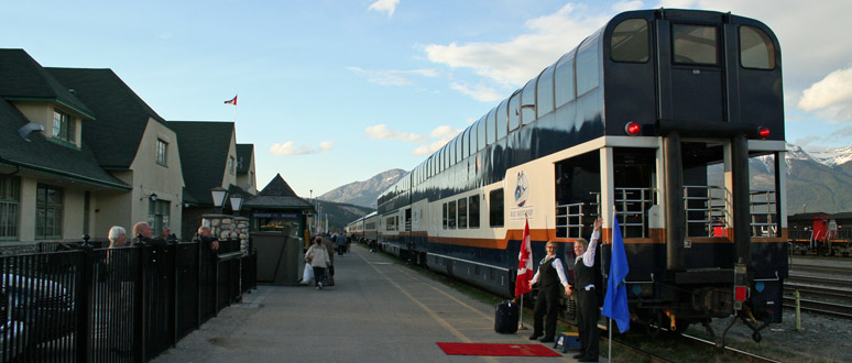 Rocky Mountaineer at Jasper