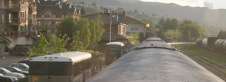 Rocky Mountaineer arrives at Kamloops