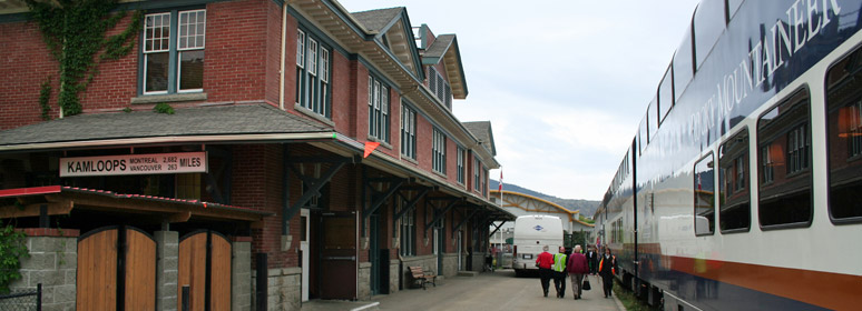 Rocky Mountaineer boarding at Kamloops