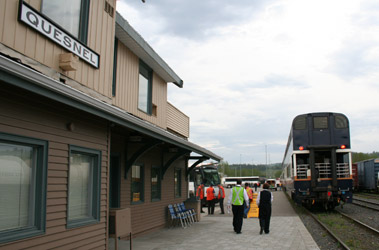 Rocky Mountaineer at Quesnel