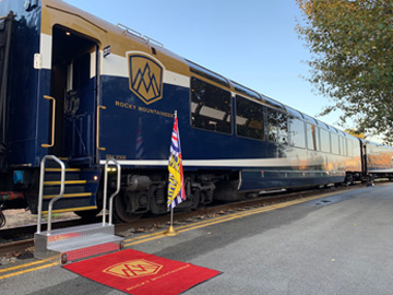 Rocky Mountaineer silver leaf car