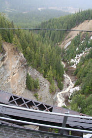 Looking down from the Stoney Creek Bridge