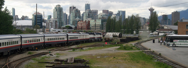 Rocky Mountaineer arrives in Vancouver