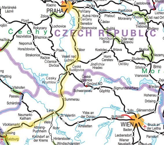 SALZBURG TO PRAGUE by train from €19 | Avoid the bus from ... on berchtesgaden map, bad gastein map, prague map, alps map, xanthi map, saalbach hinterglemm map, bruges map, heidelberg map, austria map, hamburg map, albania map, zurich map, sarajevo map, hallstatt map, innsbruck map, wan chai map, qandahar map, munich map, strasbourg map, europe map,