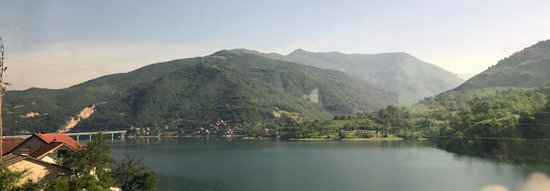 Scenery from the train between Sarajevo and Mostar