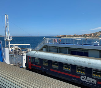 A sleeper train from Milan to Sicily on the train ferry