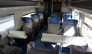TGV 1st class seats, latest interior...