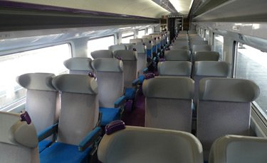 TGV 2nd class seats, latest interior...