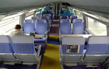 TGV Duplex upper deck 2nd class seats