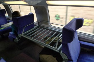 TGV Duplex:  Luggage racks