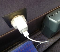 TGV Duplex:  Power outlets